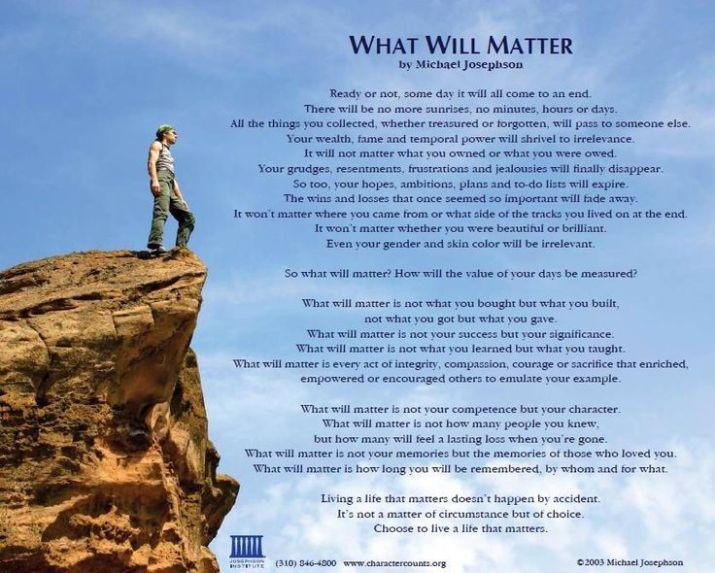 What Will Matter - Josephson