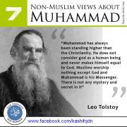 Budayawan dan penulis Rusia Leo Tolstoy tentang Nabi Muhammad saw