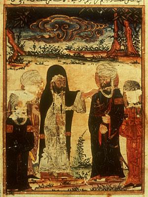 Lukisan Pelantikan Imam Ali as bersama Nabi saw di Ghadir Khumm . (Investiture of Ali - Edinburgh)