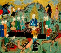 Image of Imam (4th Caliph) Ali bin Abithalib (as) in an ancient painting: truth and justice.