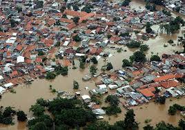 Sebagian wilayah Jakarta yang kebanjiran
