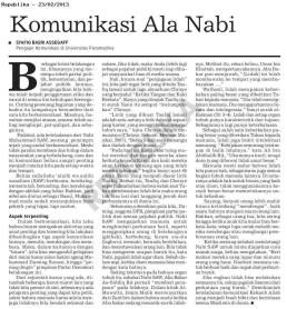 Komunikasi Ala Nabi - epaper Republika 23 Feb 2013 - hal.7
