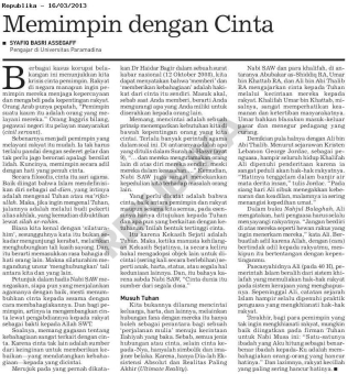 Memimpin dengan Cinta - Republika 16 Maret 2013 - halaman 4