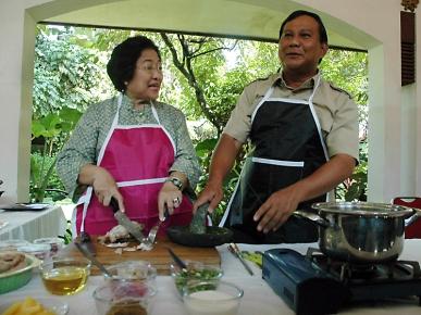 Prabowo memasak bersama Megawati: pentingnya pertanian yang pro-rakyat