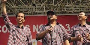 Jokowi dan Ahok, saat kampanye calon Gubernur DKI bersama Prabowo