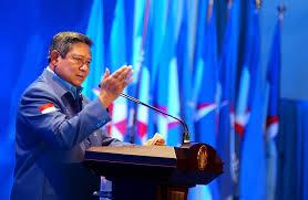 SBY pidato di salah satu acara Partai Demokrat