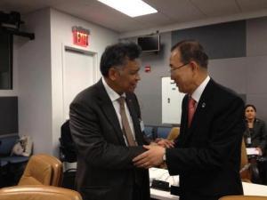 Pertemuan antara Sekjen PBB dan Sekjen ASEAN di acara  Ministerial Meeting ASEAN-UN, New York 28 Sept 2012