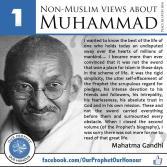 Pujian Gandhi mengenai Nabi Muhammad saw