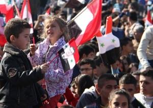 Demo rakyat Suriah pro pemerintahan Asad