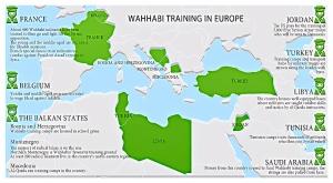 Data sebaran pelatihan wahabi di Eropa