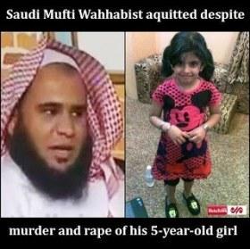 Ulama Wahhabi dibebaskan setelah perkosa dan bunuh anaknya sendiri