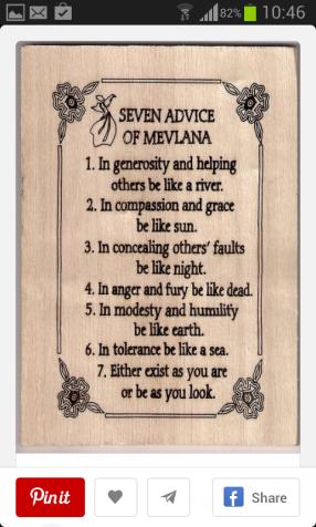 7 pesan Rumi - Maulana