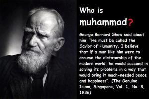Nabi Muhammad saw di mata Bernard Shaw:  pemimpin yang sederhana