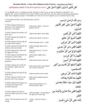 Doa bagi Orang Lain selama Ramadhan