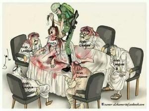 Karikatur media luar negeri tentang Palestina (Gaza) di antara beberapa negara di Timur Tengah