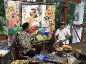 Anies Baswedan dan Nyoman Gunarsa di Bali (foto Afrizal, Kemendikbud): Tulisan tentang Anies termasuk yang banyak dibaca orang.
