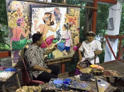 Anies Baswedan dan Nyoman Gunarsa di Bali (foto Afrizal).