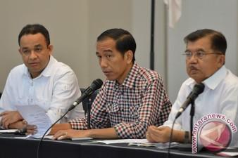 Anies bersama Jokowi dan JK - Foto Antara
