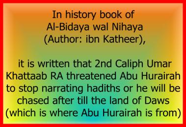 Ancaman Umar kepada Abu Hurairah