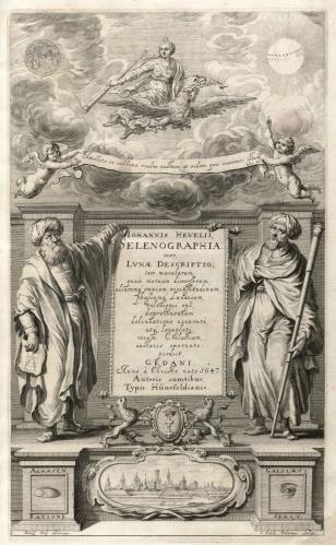 Al-Hazen dan Galileo (dalam literatur kuno Yunani, Selenographia)